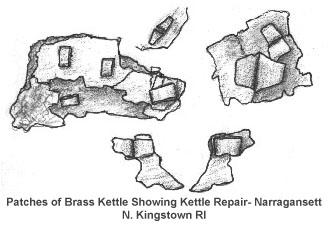 Kettle Pieces Fastened with Brads